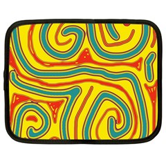 Colorful decorative lines Netbook Case (Large)