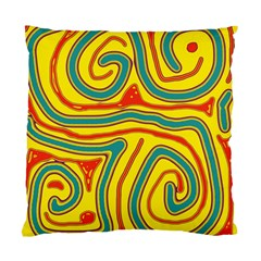 Colorful decorative lines Standard Cushion Case (One Side)