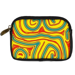 Colorful decorative lines Digital Camera Cases