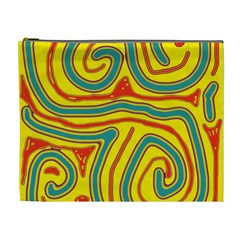 Colorful decorative lines Cosmetic Bag (XL)
