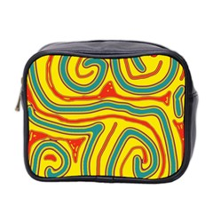 Colorful decorative lines Mini Toiletries Bag 2-Side