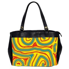 Colorful decorative lines Office Handbags (2 Sides)