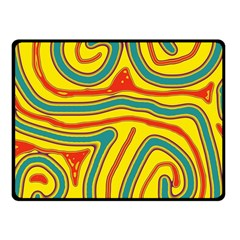 Colorful decorative lines Fleece Blanket (Small)