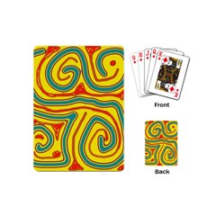 Colorful decorative lines Playing Cards (Mini)