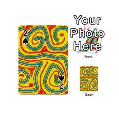 Colorful decorative lines Playing Cards 54 (Mini)
