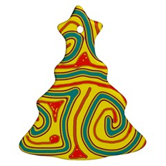Colorful decorative lines Christmas Tree Ornament (2 Sides)