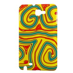 Colorful decorative lines Samsung Galaxy Note 1 Hardshell Case