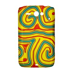 Colorful decorative lines HTC ChaCha / HTC Status Hardshell Case
