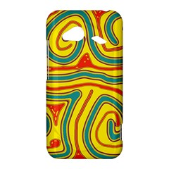 Colorful decorative lines HTC Droid Incredible 4G LTE Hardshell Case