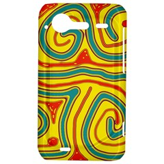 Colorful decorative lines HTC Incredible S Hardshell Case