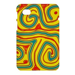 Colorful decorative lines Samsung Galaxy Tab 7  P1000 Hardshell Case
