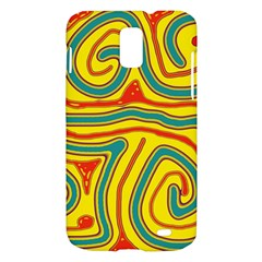 Colorful decorative lines Samsung Galaxy S II Skyrocket Hardshell Case