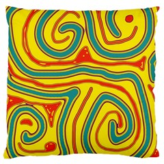 Colorful decorative lines Large Cushion Case (Two Sides)