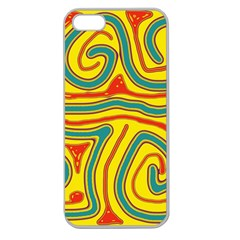 Colorful decorative lines Apple Seamless iPhone 5 Case (Clear)
