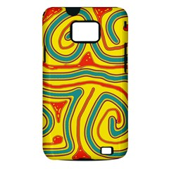 Colorful decorative lines Samsung Galaxy S II i9100 Hardshell Case (PC+Silicone)