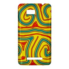 Colorful decorative lines HTC One SU T528W Hardshell Case