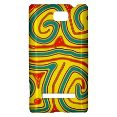 Colorful decorative lines HTC 8S Hardshell Case