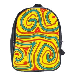 Colorful decorative lines School Bags (XL)