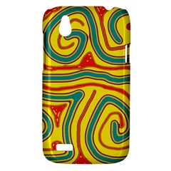 Colorful decorative lines HTC Desire V (T328W) Hardshell Case
