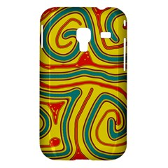 Colorful decorative lines Samsung Galaxy Ace Plus S7500 Hardshell Case