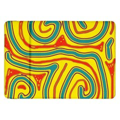 Colorful decorative lines Samsung Galaxy Tab 8.9  P7300 Flip Case
