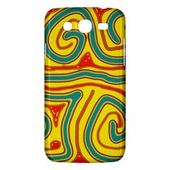 Colorful decorative lines Samsung Galaxy Mega 5.8 I9152 Hardshell Case