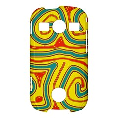 Colorful decorative lines Samsung Galaxy S7710 Xcover 2 Hardshell Case