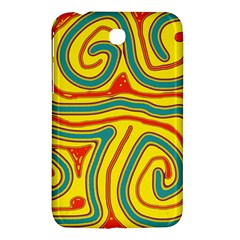 Colorful decorative lines Samsung Galaxy Tab 3 (7 ) P3200 Hardshell Case