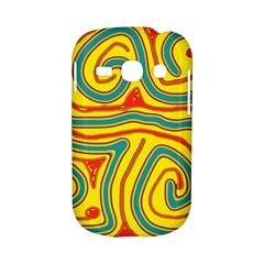 Colorful decorative lines Samsung Galaxy S6810 Hardshell Case