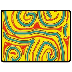 Colorful decorative lines Double Sided Fleece Blanket (Large)