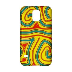 Colorful decorative lines Samsung Galaxy S5 Hardshell Case