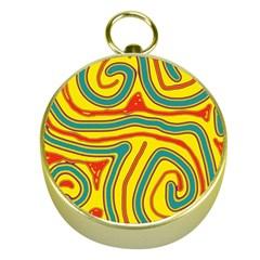 Colorful decorative lines Gold Compasses