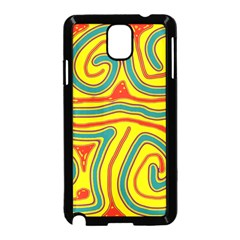 Colorful Decorative Lines Samsung Galaxy Note 3 Neo Hardshell Case (black)