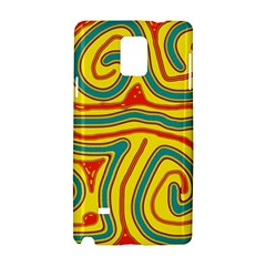 Colorful decorative lines Samsung Galaxy Note 4 Hardshell Case