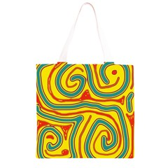 Colorful decorative lines Grocery Light Tote Bag
