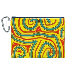 Colorful decorative lines Canvas Cosmetic Bag (XL)