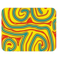 Colorful decorative lines Double Sided Flano Blanket (Medium)