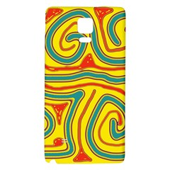 Colorful decorative lines Galaxy Note 4 Back Case