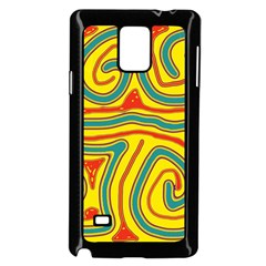 Colorful decorative lines Samsung Galaxy Note 4 Case (Black)