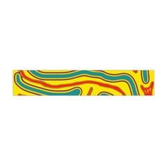 Colorful decorative lines Flano Scarf (Mini)