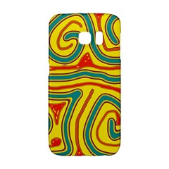 Colorful decorative lines Galaxy S6 Edge