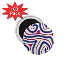 Blue and red lines 1.75  Magnets (100 pack)