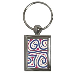 Blue and red lines Key Chains (Rectangle)