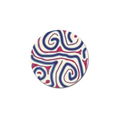 Blue and red lines Golf Ball Marker (10 pack)