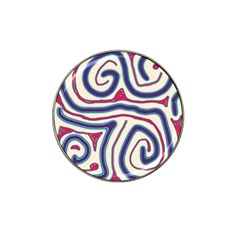 Blue and red lines Hat Clip Ball Marker (4 pack)