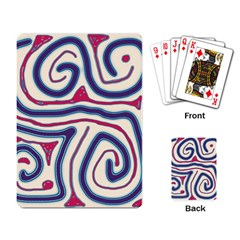 Blue and red lines Playing Card