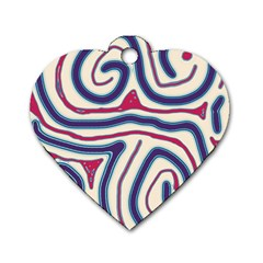 Blue and red lines Dog Tag Heart (Two Sides)