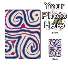 Blue and red lines Multi-purpose Cards (Rectangle)