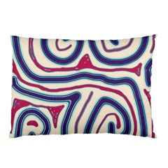 Blue and red lines Pillow Case