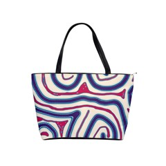 Blue and red lines Shoulder Handbags